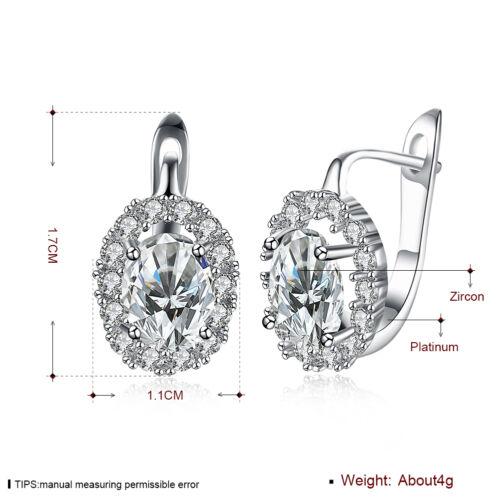 research.unir.net Fashion Earrings 18K White Gold Plated Green ...