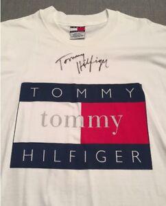 d706952d8 Image is loading Tommy-Hilfiger-Mens-Large-Flag-Logo-T-Shirt-