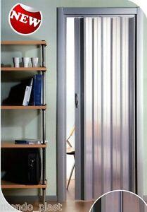 Dettagli su Porta a soffietto in pvc TRASLUCIDA Su misura in 21 Colorazioni  - Prezzo al mq