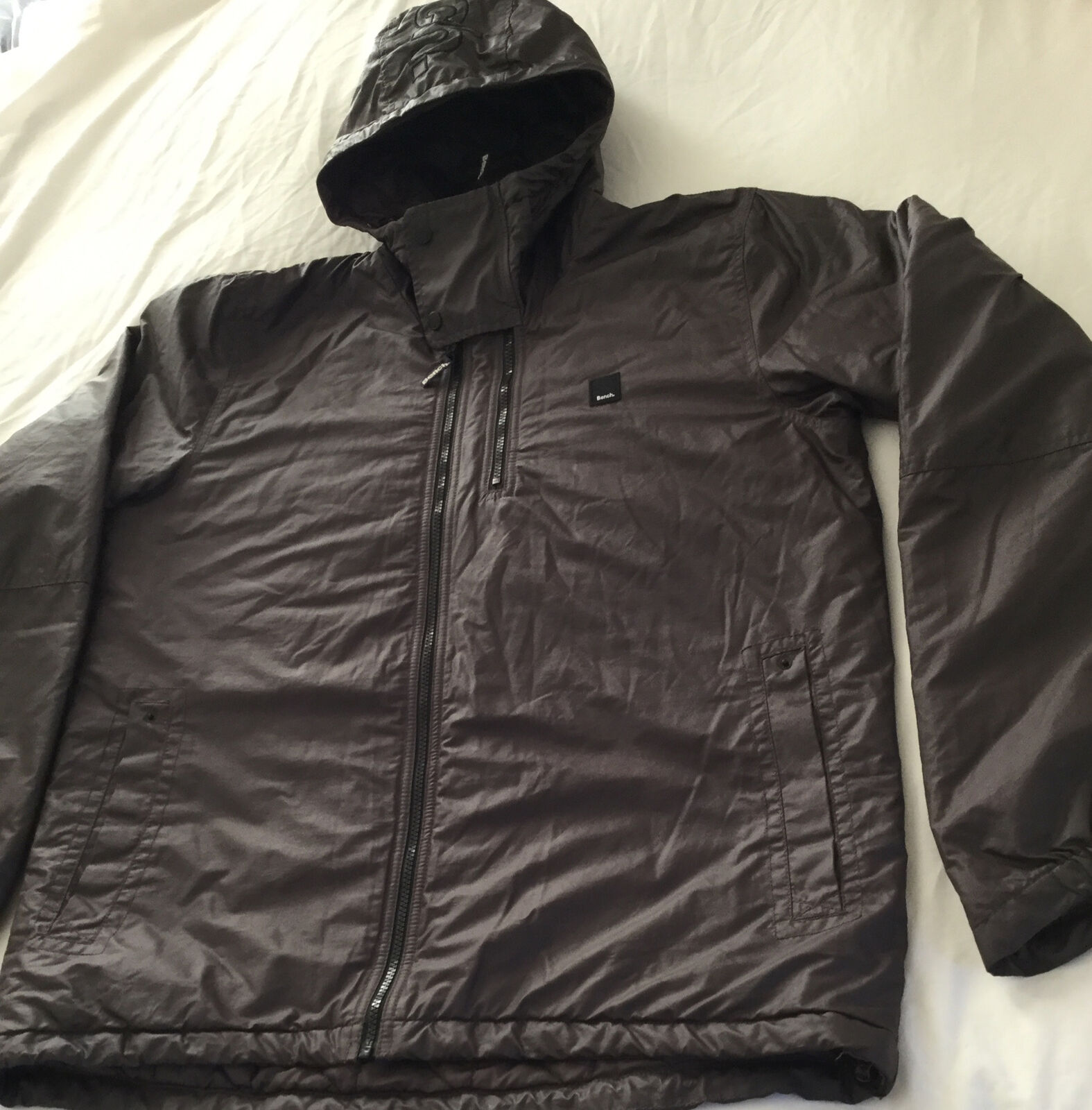 Bench Ladies Extra Large Brown Hooded Light Weight Coat Excellent Condition