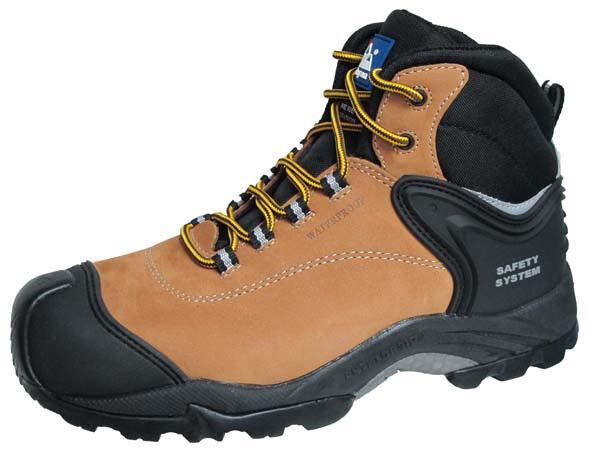 Dell' Himalaya ovini S3 SRC Miele Composito Punta Metallo Metallo Metallo libero Impermeabili Stivali di sicurezza 3a12fa