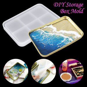 DIY-Silicone-Large-Tray-Resin-Casting-Mold-Epoxy-Mould-Craft-Rectangle-Tool-Kit