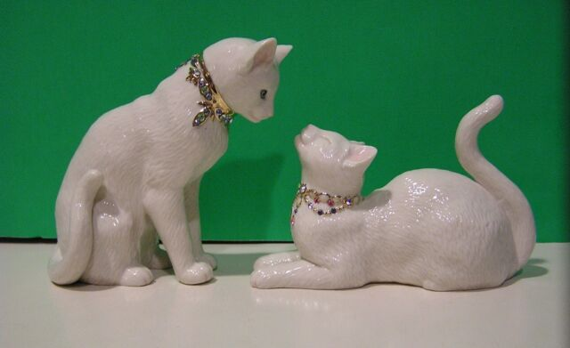 LENOX AWAKE TO A KISS TWO CAT SCULPTURE New in box/COA