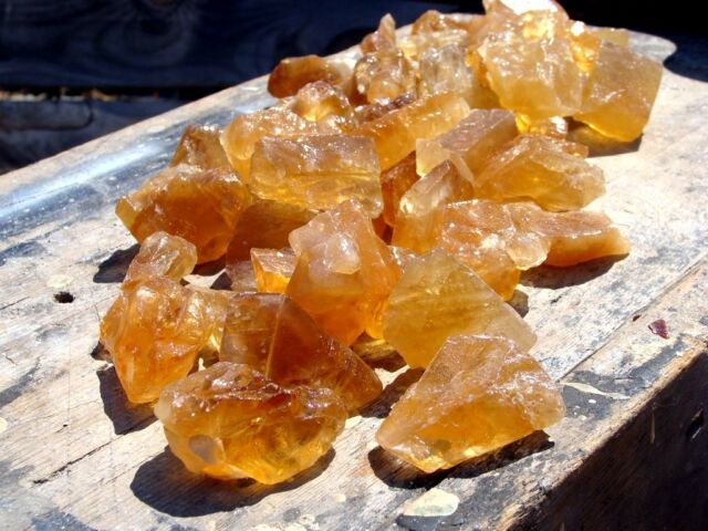Natural CITRINE CALCITE - 1000 Carats - Rough Rocks  - Gems  - Lapidary Stones
