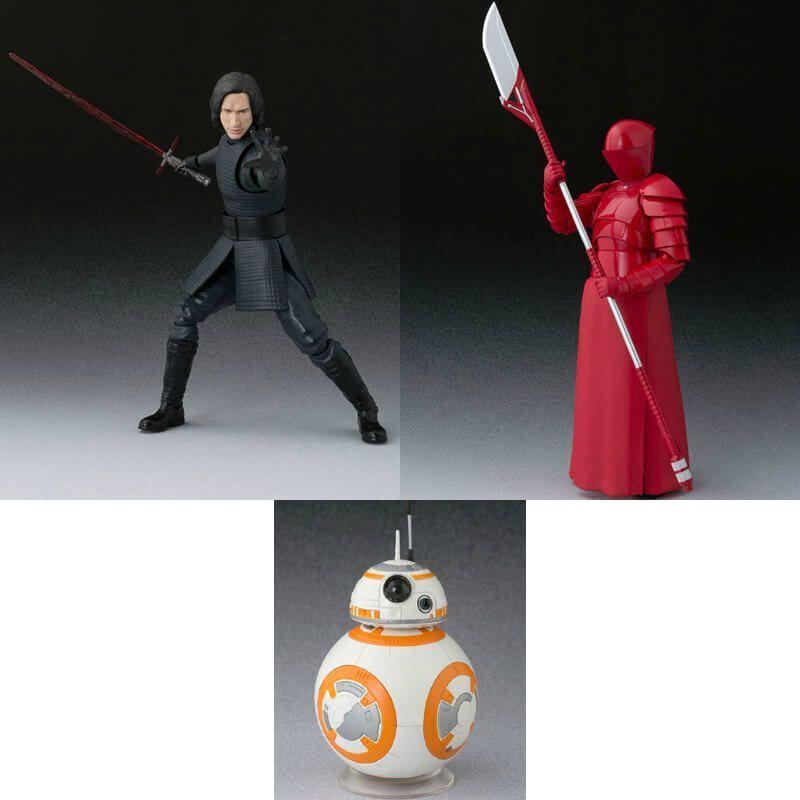 S.H.Figuarts Star Wars The Last Jedi KYLO REN & ELITE PRAETORIAN GUARD & BB-8