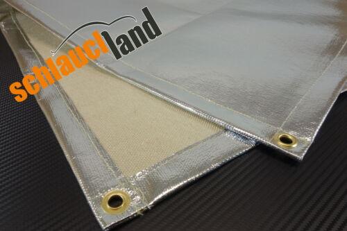 1,0m x 0,5m Hitzeschutzdecke Alu-Fiberglass *** Hitzeschutzmatte Schweißdecke