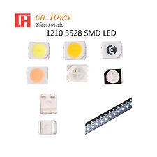 50 100pcs 1210 3528 Smt Smd Plcc 2 Led Diodes White Blue Rgb Light Lamp Bulb