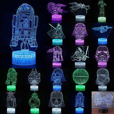 3D Star Wars Desk Table LED Night Light Lamp Color Changing Force Awakens Gift
