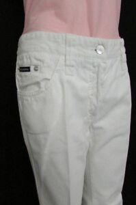 1e7af5c97f Dettagli su Dolce & Gabbana Usati Donna Bianco Jeans Casual D&g Jeans Moda  Gamba Larga 8/30