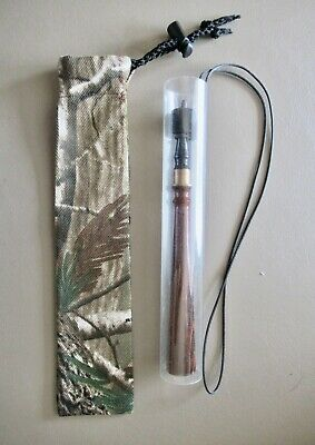 Turkey Hunting Camo Trumpet//Yelper Case//Pouch with Protective Plastic Lining