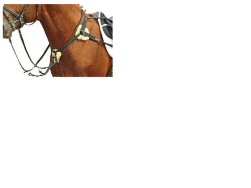 5 POINT BREASTPLATE GERMAN LEATHER, WOOL PADS, RRP 71.95 FREE DELIVERY