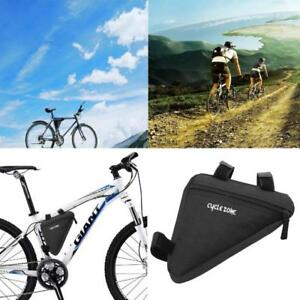 Waterproof Fabric Cycling Bike Bicycle Front Tube Frame Pouch Bag Holder Saddle