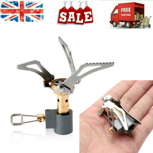 Mini Lightweight Outdoor Stove Compact Camping Hiking Folding Gas Cooker M9A0