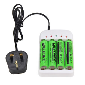 4-X-3-7V-2400mAh-Li-ion-18650-Rechargeable-Battery-and-Charger-For-Flashlight