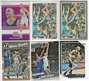 MANU-GINOBILI-NBA-Cards-Lot-7-Cards-BASE-INSERT-PARALLEL