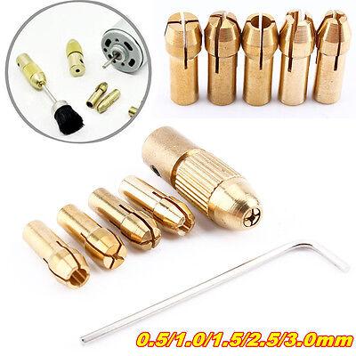 9x Mini Chuck 0.5-3mm Drill Collet Micro Twist Drill Bit Collet Chuck Tool
