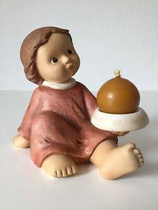 Goebel-Nina-amp-Marco-Porzellan-Figur-Maedchen-Kerzenhalter-Kerzenstaender-selten