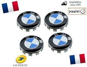 4x-Cache-Moyeu-Jante-Centre-De-Roue-Enjoliveur-Logo-insigne-BMW-68mm-Neuf