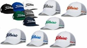 6da5b21665e3e New Titleist Golf Tour Mesh Snapback Hat Pro V1 Color Adjustable ...
