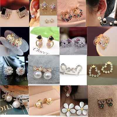 FREE Fashion Women Girls Cute Hot Sweet Crystal Pearl Earring Ear Stud New 100