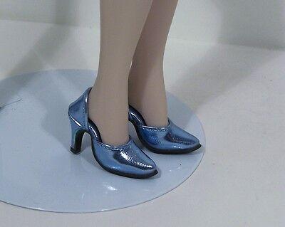 "Debs DK BLUE Metallic Easy To Wear Hi-Heel Doll Shoes For 16/"" Tyler Wentworth"