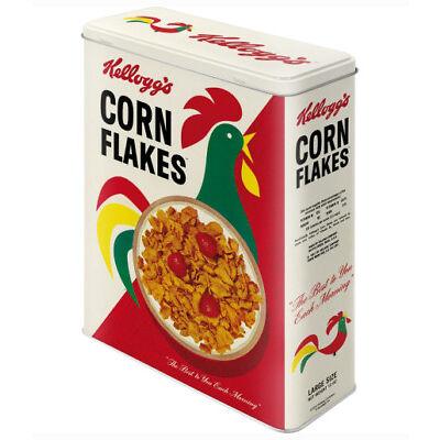 XLarge Retro Storage Tin Box KELLOGG'S CORN FLAKES 'Cornelius' Cereal Licensed