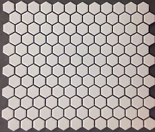 "White 1"" Hexagon Porcelain Matte Mosaic Tile Kitchen Backsplash Bathroom Floor"