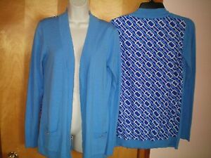 f7daa463a935d0 NWT womens ladies size XS M blue white rope print DANA BUCHMAN ...