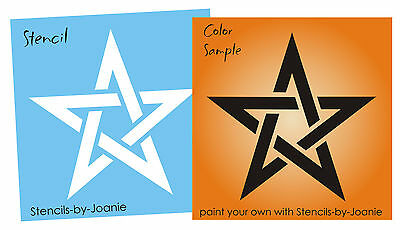 """Stencil 4"""" Celtic Weave Knot Pentagram Star Halloween Witch Holiday Art Signs"""