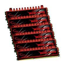 24GB G.Skill DDR3 PC3-12800 1600MHz Ripjaw Series CL9 Triple2 Channel kit 6x4GB