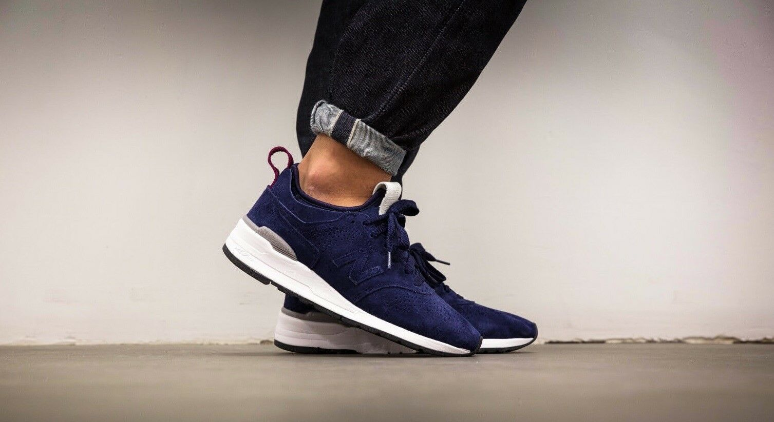 New Balance 997 Made in USA Navy bluee White Black Sz 8 M997DE2