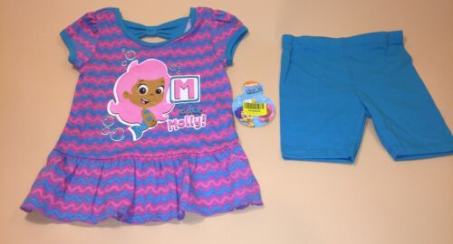 Bubble Guppies Toddler Girl Shirt /& Shorts Outfit Set New 24 Months Molly