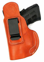 Brown Leather Owb Clip-0n Right Hand Holster W/ Comfort Tab - Beretta 84, 85