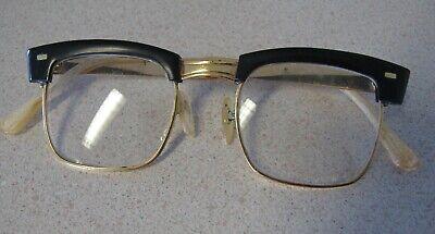 Vintage Glasses60s EyeglassesBrowline Glasses FramesGold Eyeglass Frame