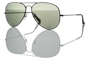 Ray-Ban-Aviator-Sunglasses-Authentic-RB-3025-002-58-Black-Dark-Grey-Lens-62mm
