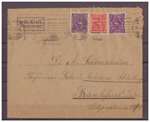 Empire-Allemand-Minr-207-224-225-M-ST-Francfort-Main-18-01-1923