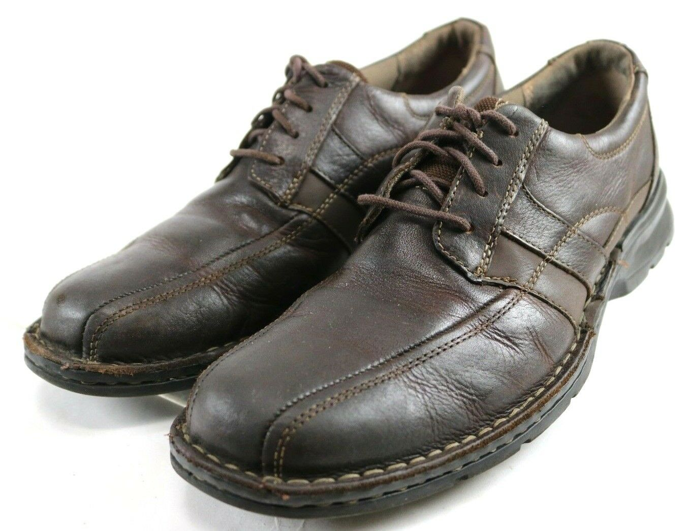 Clarks Espace Oxfords  Men's Lace-Up Casual shoes Size 9.5 Leather Brown