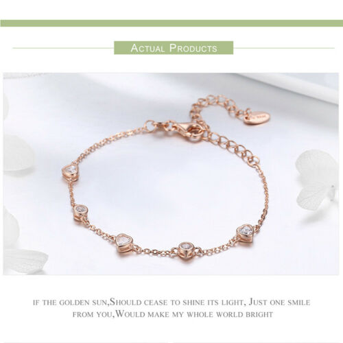 BAMOER S925 Sterling Silver Charms Bracelet Beauty Of Simplicity With AAA zircon