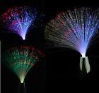 Chrome Multi Colour LED Changing Fibre Optic Light Fountain Night Calming Lamp