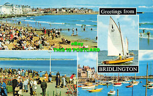 R582983 Greetings from Bridlington. South Beach and Sea. The Harbour. Bamforth.