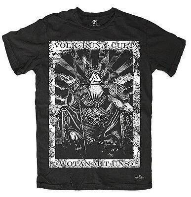 T-shirt WOTAN MIT UNS Asatru Wolf Pagan Thor Odin Witchcraft Runes Viking