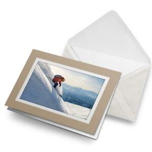 Greetings-Card-Biege-Freeride-Skiing-Mountains-Ski-Snow-21553
