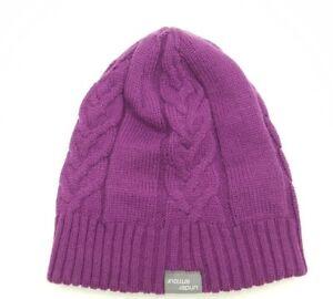 267b2c0436a237 Ex&Co Under Armor Purple Knit Lined Beanie Toboggan Hat Women's ...