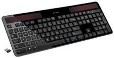 Logitech K750 Black Wireless Solar Keyboard for PC w/ Unifying Receiver