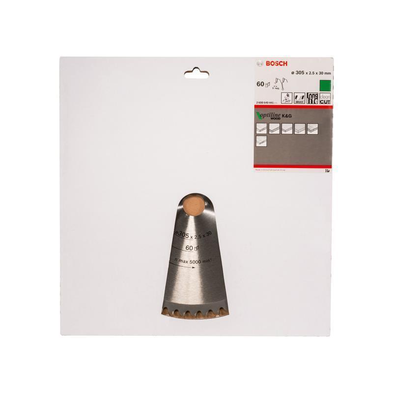 Bosch HM Sägeblatt Optiline Wood 305x2,5x30mm Z=60 WZ N