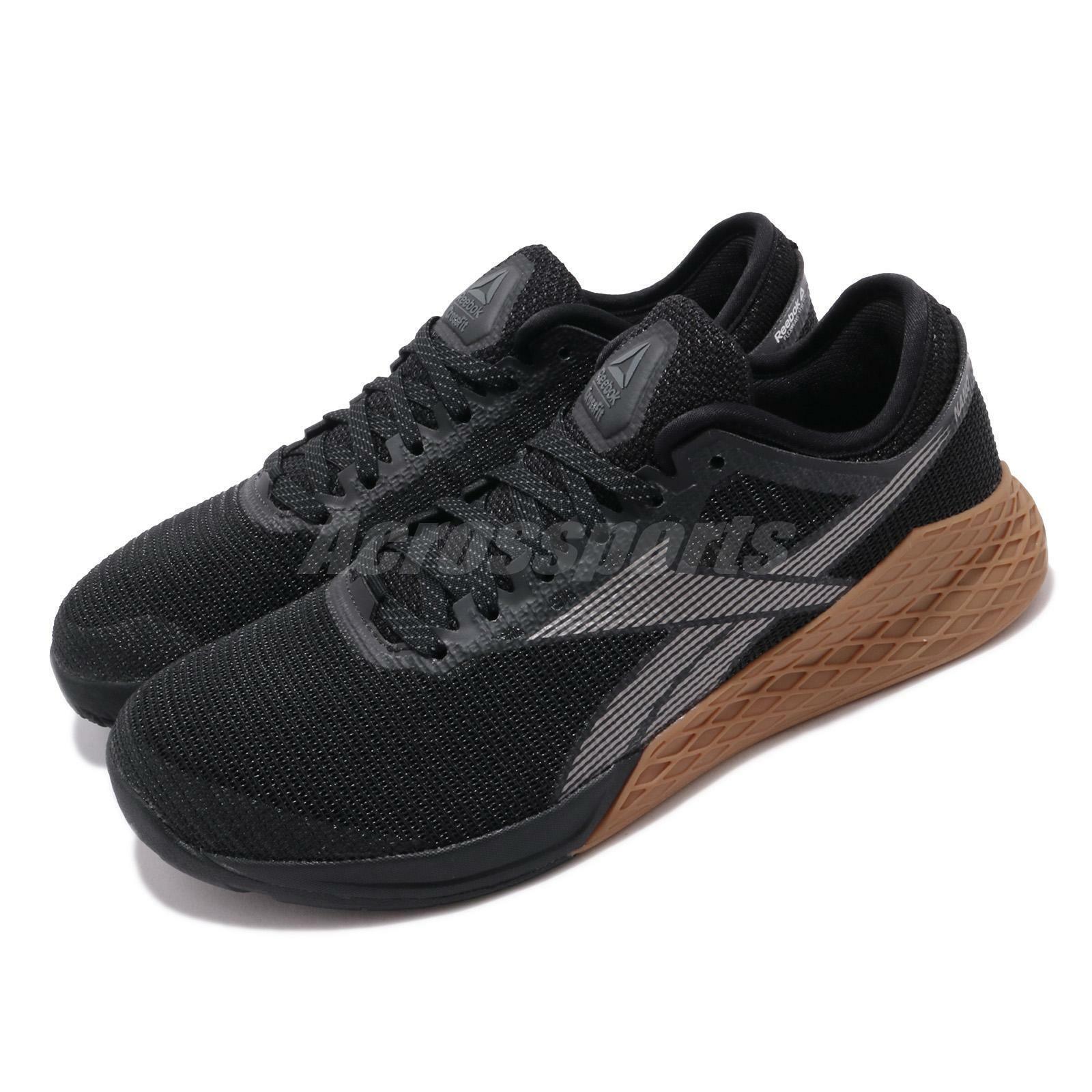 Reebok Nano 9 Negro gris Goma De MasCoche Hombres Crossfit Entrenamiento Gimnasio Zapatos Zapatillas EG4422