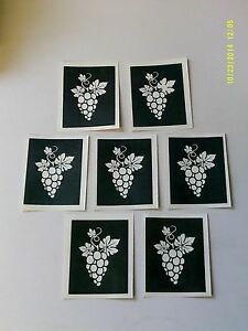 10 - 400 grape stencils for etching on glass craft hobby glassware grapes wine