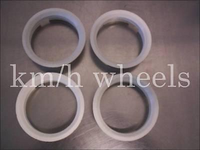 4x Zentrierringe 63,4-58,1 mm weiß Kunststoff Fiat Alfa Romeo Lancia Seat