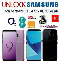 UNLOCK CODE SAMSUNG GALAXY NOTE 8 S9 S8 PLUS S7 EDGE S6 EDGE S6 O2 EE VODAFONE