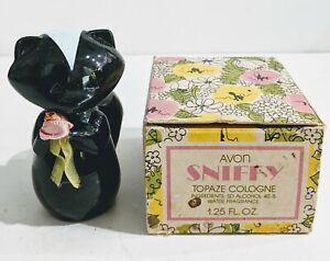 Vintage-Avon-Sniffy-Topaze-Cologne-1-25-Fl-Oz-In-Original-Box-1978-FULL-BOTTLE